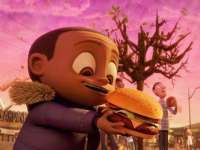 """""""Cal"""" im Animationsfilm Wolkig mit Aussicht auf Fleischbällchen."""