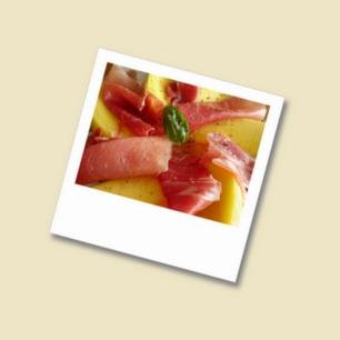 Mango-mit-Serranoschinken