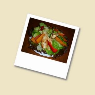 Kürbis Huhn Salat
