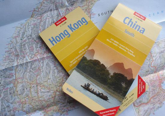 Kartenmaterial Hongkong - China - Neuseeland