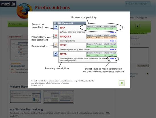 Firefox - Erweiterung - Firebug - FireScope