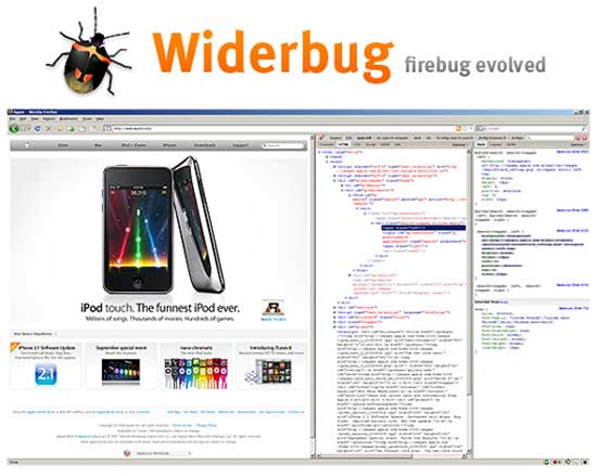 Firefox - Erweiterung - Firebug - Widerbug