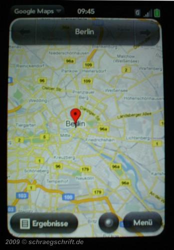 Palm Pre Google Maps