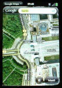 Google Maps - Palm Pre